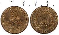 Изображение Монеты Джибути 20 франков 1996 Латунь UNC-
