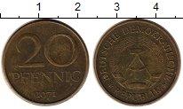 Изображение Монеты ГДР 20 пфеннигов 1971 Латунь XF