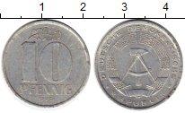 Изображение Монеты ГДР 10 пфеннигов 1965 Алюминий XF
