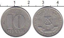 Изображение Монеты Германия ГДР 10 пфеннигов 1971 Алюминий XF