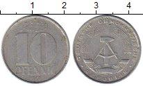 Изображение Монеты ГДР 10 пфеннигов 1975 Алюминий XF А