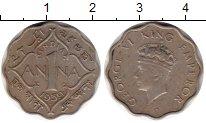 Изображение Монеты Индия 1 анна 1939 Медно-никель XF Георг VI