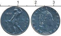 Изображение Монеты Италия 50 лир 1992 Медно-никель UNC-