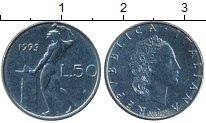 Изображение Монеты Италия 50 лир 1993 Медно-никель UNC