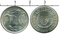 Изображение Монеты Азия Кипр 2 цента 1996 Латунь UNC-