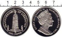Изображение Монеты Фолклендские острова 1 крона 2017 Серебро Proof 35 лет Независимости