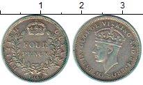 Изображение Монеты Гайана 4 пенса 1945 Серебро XF