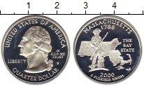 Изображение Монеты Северная Америка США 1/4 доллара 2000 Серебро Proof-