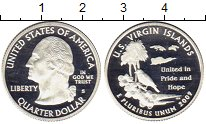 Изображение Монеты Северная Америка США 1/4 доллара 2009 Серебро Proof-