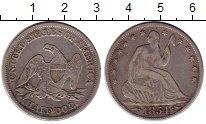 Изображение Монеты США 1/2 доллара 1854 Серебро XF-