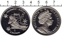 Изображение Монеты Остров Мэн 1 крона 2014 Серебро Proof Олимпийские игры, сл