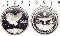 Изображение Монеты Маршалловы острова 50 долларов 1989 Серебро Proof Космос, Первый полет