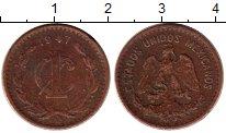 Изображение Монеты Северная Америка Мексика 1 сентаво 1947 Бронза VF