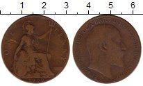 Изображение Монеты Великобритания 1 пенни 1909 Бронза VF