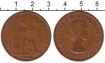 Изображение Монеты Европа Великобритания 1 пенни 1966 Бронза XF