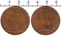 Изображение Монеты Великобритания 1 пенни 1967 Бронза XF Елизавета II
