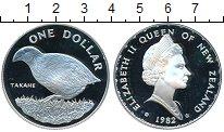 Изображение Монеты Новая Зеландия 1 доллар 1982 Серебро Proof-