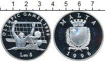 Изображение Монеты Европа Мальта 5 лир 1996 Серебро Proof-