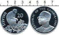 Изображение Монеты Африка Гамбия 20 даласи 1987 Серебро Proof-
