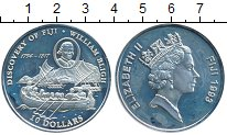 Изображение Монеты Фиджи 10 долларов 1993 Серебро Proof- Открытие Фиджи