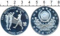 Изображение Монеты Азия Южная Корея 10000 вон 1987 Серебро Proof-