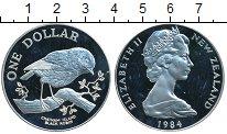 Изображение Монеты Новая Зеландия 1 доллар 1984 Серебро Proof-
