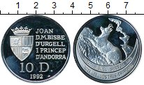 Изображение Монеты Европа Андорра 10 динерс 1992 Серебро Proof-