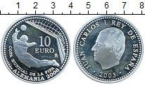 Изображение Монеты Европа Испания 10 евро 2003 Серебро Proof-