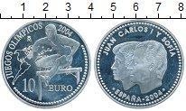 Изображение Монеты Европа Испания 10 евро 2004 Серебро Proof-