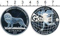Изображение Монеты Африка Конго 10 франков 2004 Серебро Proof-