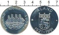 Изображение Монеты Европа Финляндия 100 марок 1991 Серебро Proof-