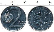 Изображение Дешевые монеты Европа Чехия 2 кроны 1994