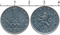 Изображение Дешевые монеты Европа Чехия 1 крона 1993