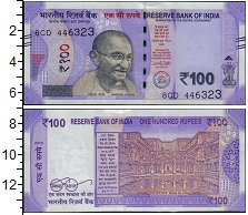 Изображение Банкноты Индия 100 рупий 2018  UNC