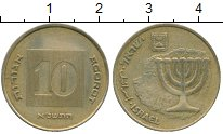 Изображение Дешевые монеты Израиль 10 агор 1982
