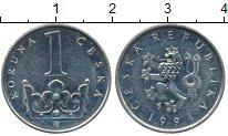 Изображение Дешевые монеты Европа Чехия 1 крона 1994 Медно-никель XF