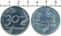Изображение Монеты Словения 30 евро 2009 Серебро Proof-