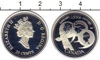 Изображение Монеты Северная Америка Канада 25 центов 1999 Серебро Proof
