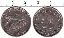 Изображение Монеты Тунис 1/2 динара 1983 Медно-никель XF
