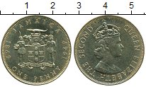 Изображение Монеты Северная Америка Ямайка 1 пенни 1969 Латунь XF