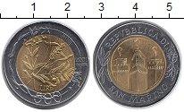 Изображение Монеты Европа Сан-Марино 500 лир 2001 Биметалл UNC