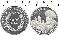 Изображение Монеты Азия Турция 5000 лир 1985 Серебро Proof-