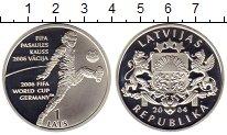 Изображение Монеты Латвия 1 лат 2004 Серебро Proof-