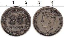 Изображение Монеты Малайя 20 центов 1943 Серебро VF