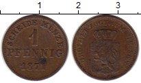 Изображение Монеты Германия Гессен-Дармштадт 1 крейцер 1871 Медь VF