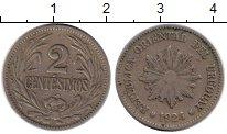 Изображение Монеты Уругвай 2 сентесимо 1924 Медно-никель VF
