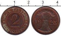 Изображение Монеты Веймарская республика 2 пфеннига 1923 Бронза UNC-