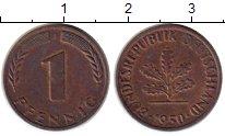 Изображение Монеты ФРГ 1 пфенниг 1950 Медь XF