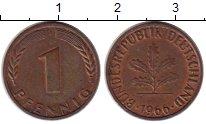 Изображение Монеты ФРГ 1 пфенниг 1966 Медь XF