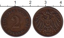 Изображение Монеты Европа Германия 2 пфеннига 1912 Бронза XF